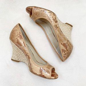 Nine West | Snake Peep Toe Espadrille Wedge Heel 8